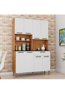 Cozinha Compacta Tannat Gold 8 Pt 1 Gv Castanho E Branca