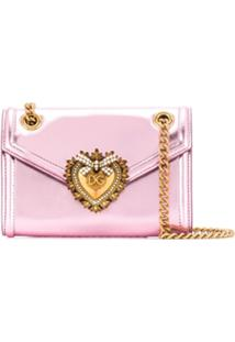 Dolce & Gabbana Bolsa Tiracolo Devotion Pequena - Rosa