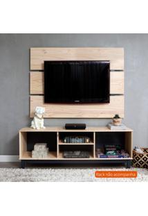 Painel Para Tv Até 55 Polegadas Wood Garapa E Cinza