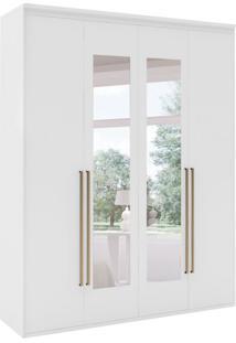 Guarda-Roupa Solteiro Originale Com Espelho 4 Pt 3 Gv Branco