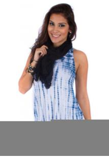 Blusa Regata Glam Tie Dye Azul