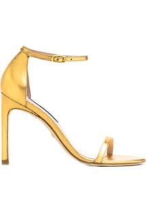 Stuart Weitzman Sandália Com Abertura Frontal - Dourado