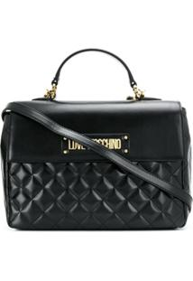 Love Moschino Diamond Quilt Tote Bag - Preto