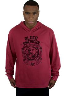 Blusa Bleed American Grizzly Vinho