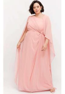 Vestido Longo Almaria Plus Size Pianeta C/ Capa Ro
