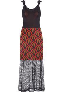 Vestido Midi Tricot - Preto