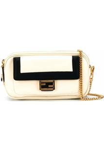 Fendi Bolsa Easy 2 Baguette Mini - Neutro