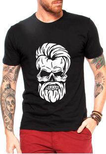Camiseta Criativa Urbana Estilo Barbearia Preta