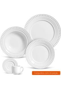Aparelho De Jantar Com 16 Peças Atenas Branco