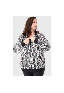 Jaqueta Moletom Plus Size Com Capuz 85120