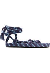Isabel Marant Sandália Com Tiras De Corda - Azul