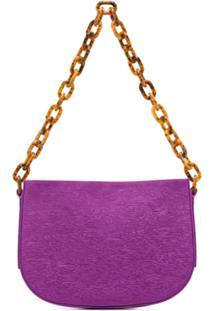 By Far Pelle Chain Shoulder Bag - Roxo
