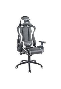 Cadeira Gamer Husky Gaming Storm, Preto E Branco, Com Almofadas, Reclinável, Descanso De Braço 2D - Hst-Bw