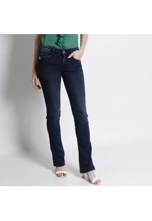 Jeans Low Boot Cut - Azul Escuro -Lança Perfumelança Perfume