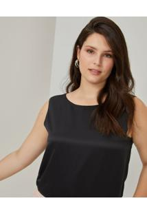 Amaro Feminino Top Shadow Casual, Preto