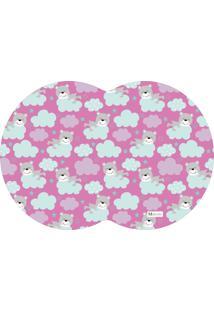 Tapete Pet Mdecore Geométrico Urso Pink 54X39Cm