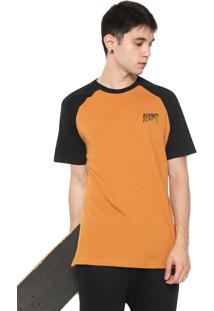 Camiseta Blunt Raglan Icon Caramelo/Preta