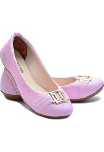 Sapatilha Ded Calçados Bico Redondo Feminina - Feminino-Rosa