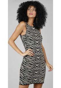 d1047b6c8 R$ 119,99. CEA Vestido Feminino Em Jacquard Estampado Animal Print Kaki