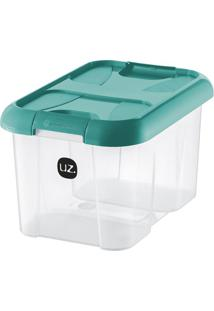 Caixa Organizadora Plus Verde-Água 10 L