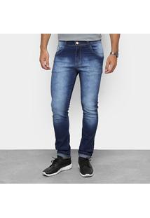 2c41e345 Calça Masculina Destroyed Skinny Jeans - Coffee Masculino-Jeans