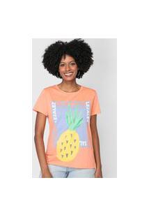 Camiseta Lez A Lez Abacaxi Laranja