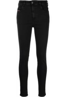 Diesel Calça Jeans Skinny Slandy - Preto