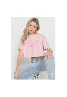 Camiseta Cropped Forum Out Of Mind Rosa
