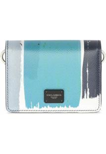 Dolce & Gabbana Carteira Transversal Com Patch De Logo - Hb1Zq Pennellate Fdo.Blu S