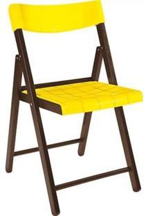 Cadeira Potenza Tabaco Com Amarelo 13793084 Tramontina