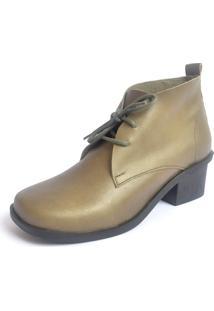 Bota S2 Shoes Serena Couro Verde Militar - Tricae