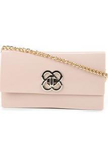 Bolsa Petite Jolie Mini Bag Lonh Wallet Feminina - Feminino-Nude