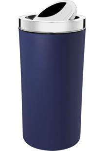 Lixeira Brinox Aço Inox Tampa Basculante 9L Azul