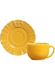 Jogo De XãCaras De Chã¡ 6 Peã§As Windsor Mostarda - Amarelo - Dafiti