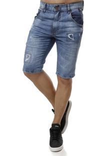 Bermuda Jeans Dixie Masculina - Masculino-Jeans