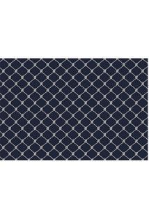 Tapete Transfer Grade- Azul & Azul Marinho- 60X40Cm