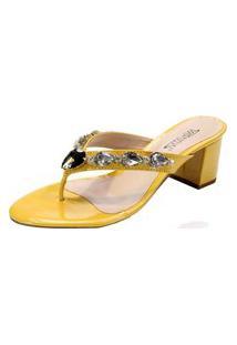 Sandália Innovativi Verniz Amarelo