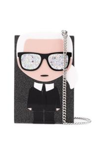 Karl Lagerfeld Bolsa Transversal Ikonik Karl - Preto
