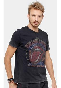 Camiseta Ellus Marmorizada Stones Band Masculina - Masculino