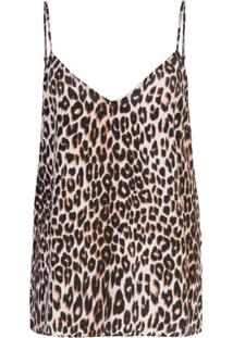 Equipment Blusa Animal Print - Marrom
