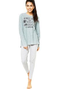 Pijama Liberta Listras Cinza