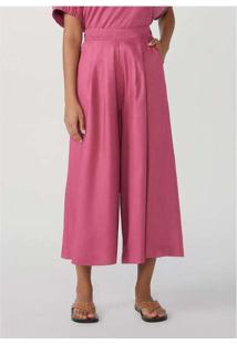 Calça Feminina Pantacourt Em Viscose Mãe Rosa