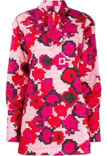 Marni Blusa Com Estampa Floral - Rosa