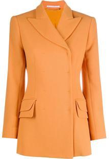 Emilia Wickstead Blazer Slim Com Abotoamento Duplo - Amarelo