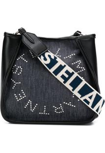 Stella Mccartney Mini Stella Logo Shoulder Bag - Preto