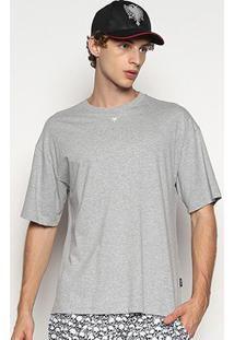 Camiseta Cavalera T Shirt Continuada 1/2 Malha Masculina - Masculino-Mescla