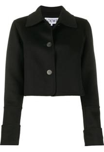 Loewe Extended-Cuff Point-Collar Jacket - Preto