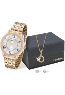 Kit Relógio Feminino Mondaine 83340Lpmvde1Ka