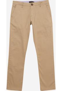Calça Dudalina Jeans Stretch Five Pockets Masculina (Bege Claro, 42)
