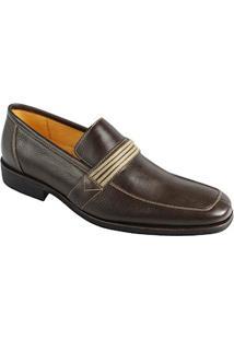 Sapato Social Masculino Loafer Sandro Moscoloni Wisconsin Marrom